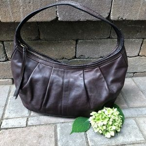 Coach Ergo brown leather large hobo bag